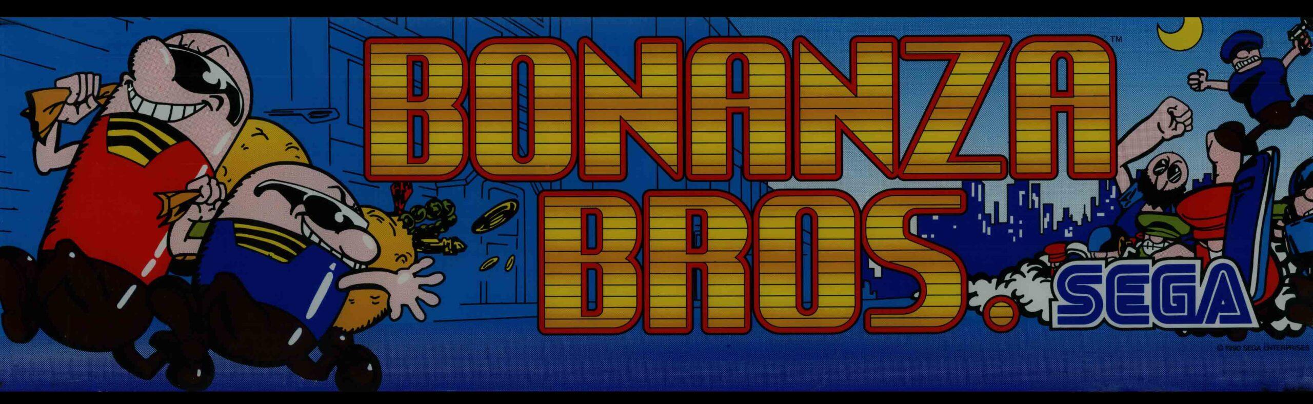 Bonanza Bros Arcade Marquee 26 X 8 Arcade Marquee Dot Com