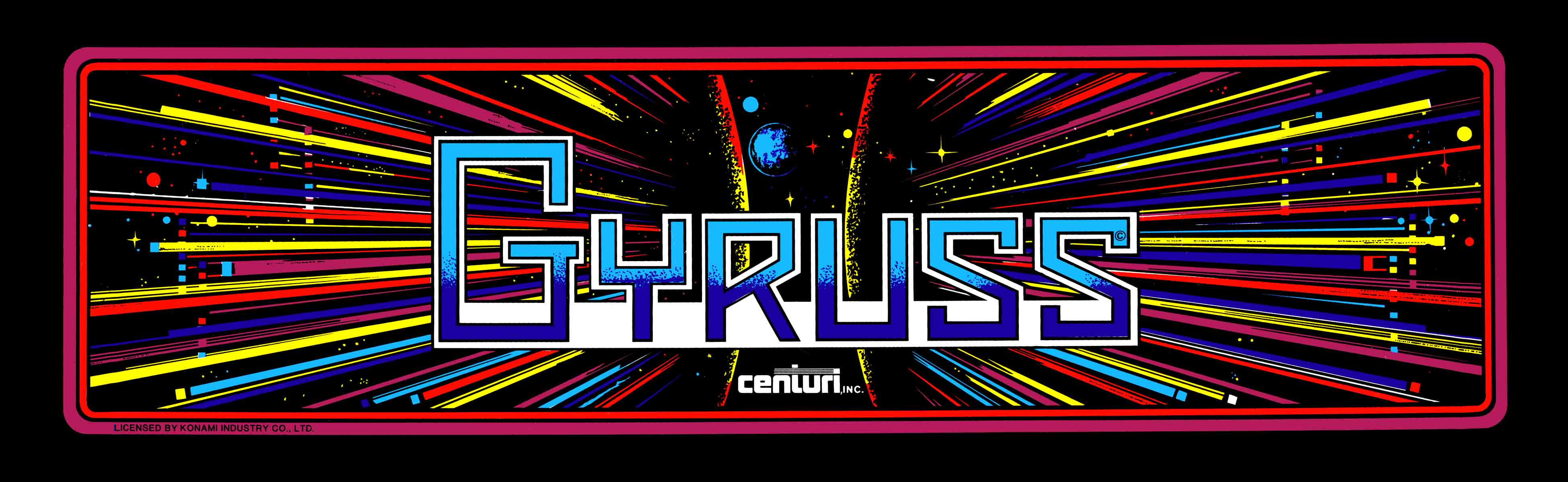 Image result for gyruss arcade logo