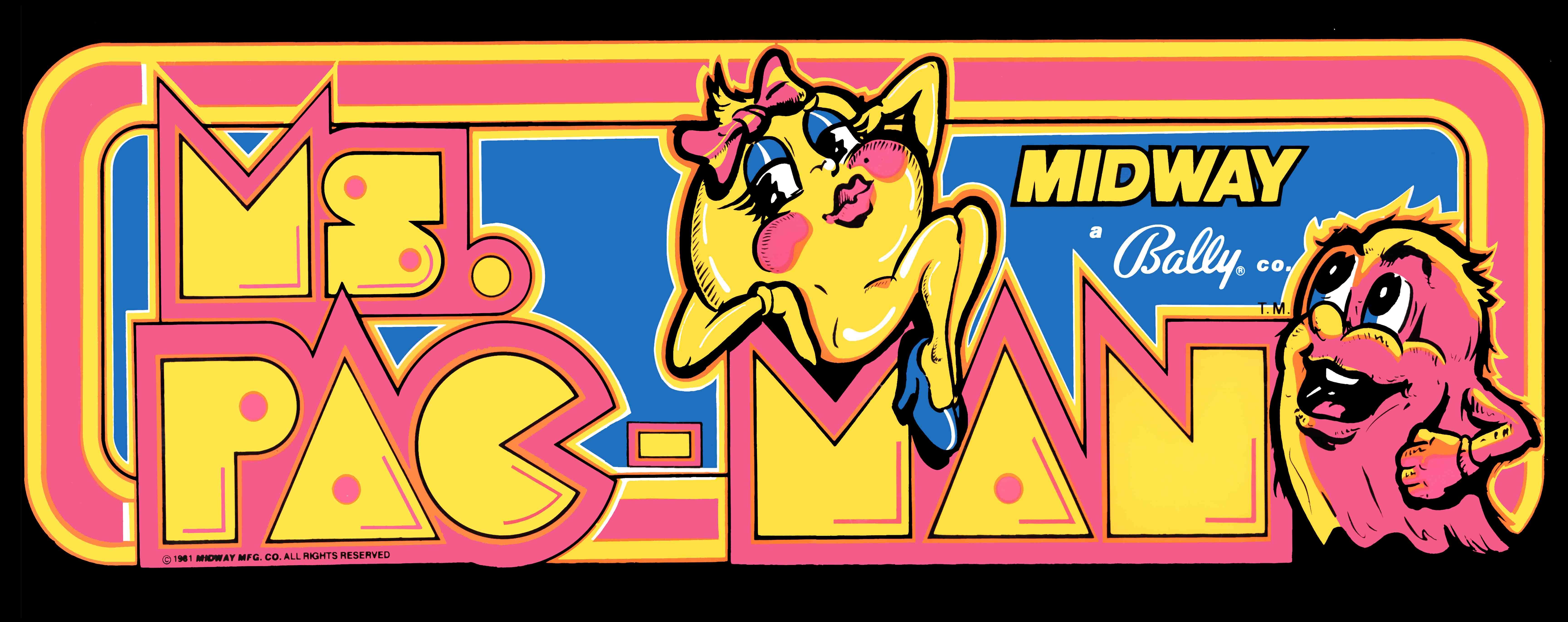 Nos Arcade Artworks préférés !! Ms-pacman_marquee_23x9
