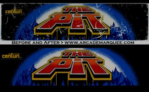 restored pit marquee before and after