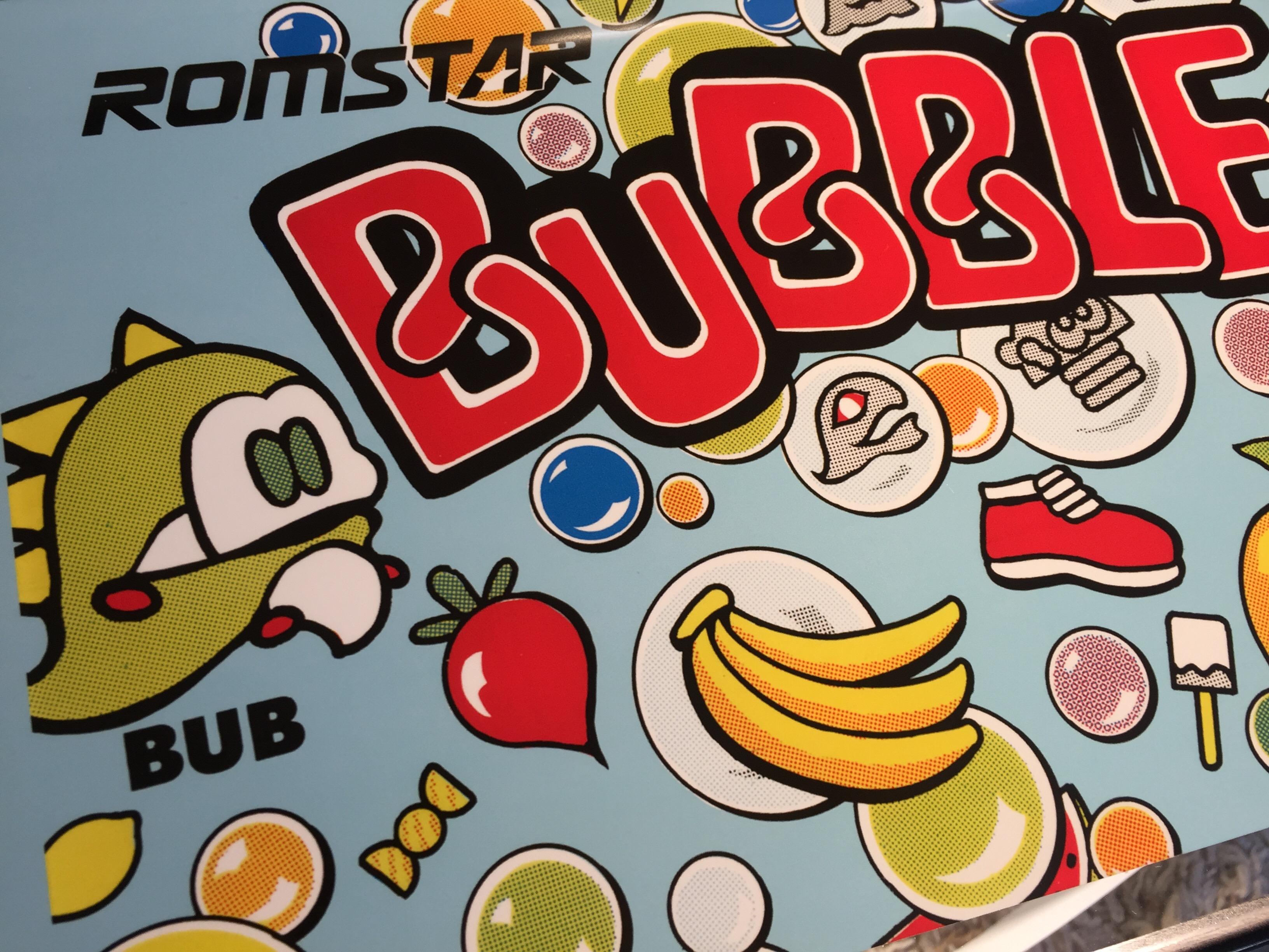 "Bubble Bobble ""A"" Arcade Marquee 26″ x 8″"