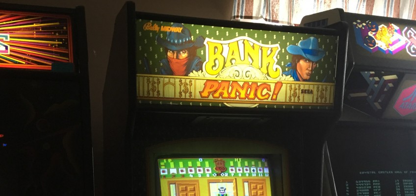 Bank Panic Arcade Marquee