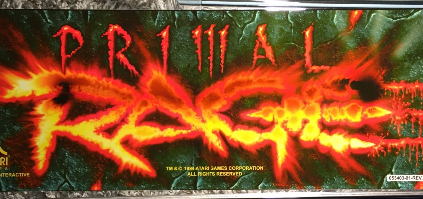 Primal Rage Arcade Marquee