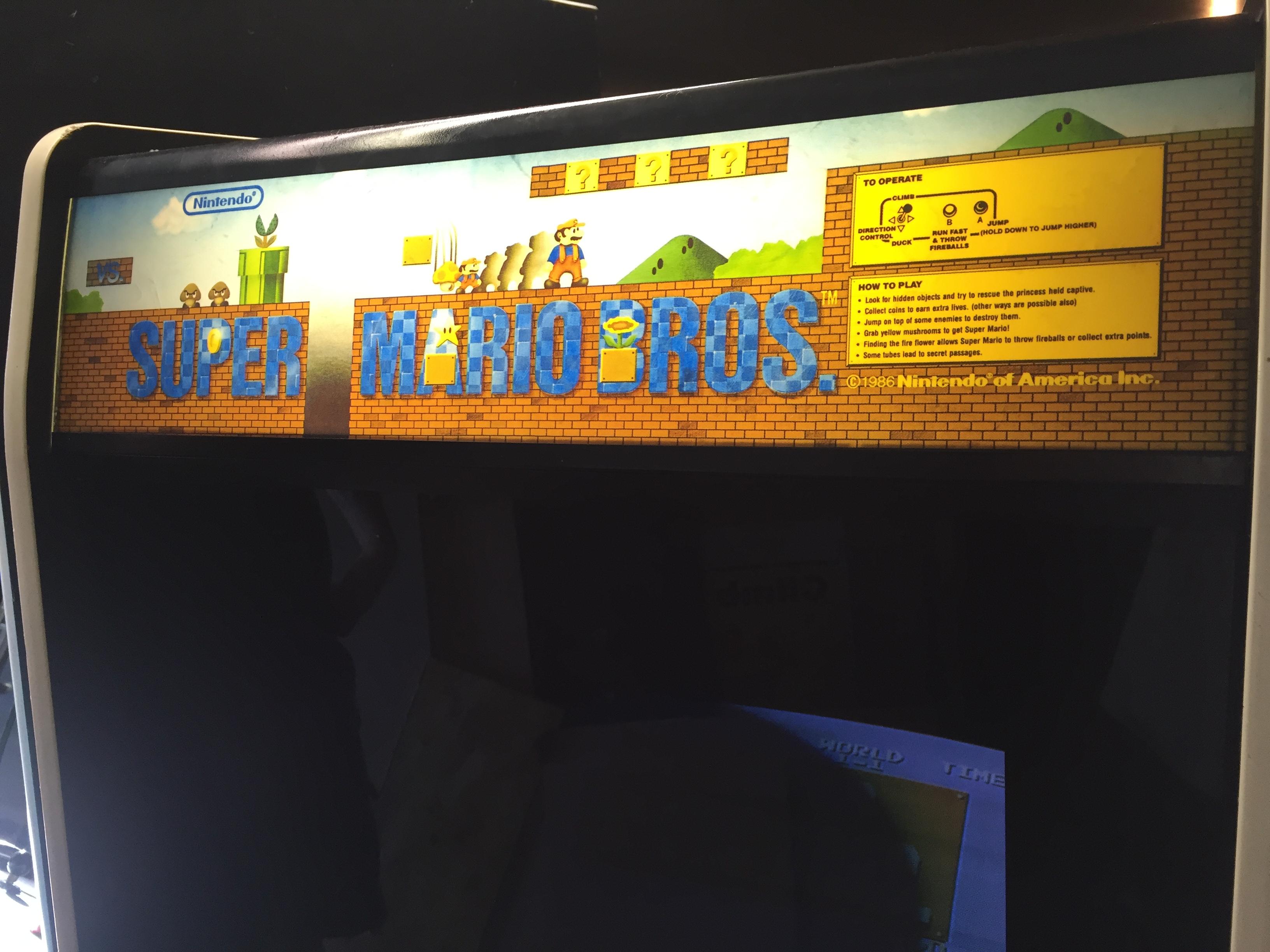 Super Mario Bros Arcade Marquee Arcade Marquee Dot Com