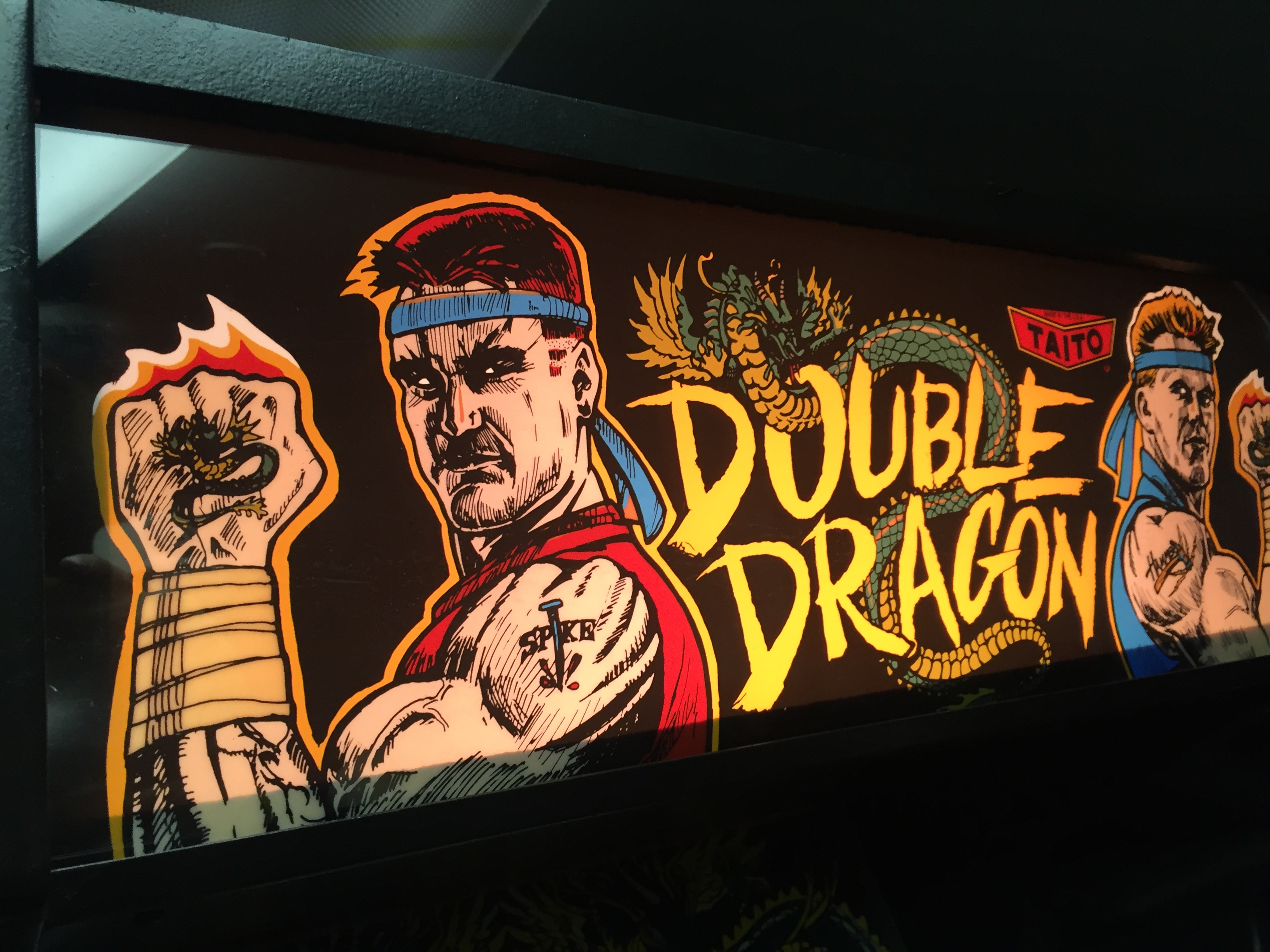 Double Dragon Arcade Marquee Dot Com
