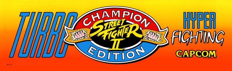 Street Fighter Ii Turbo Hyper Fighting Arcade Marquee 26 X 8