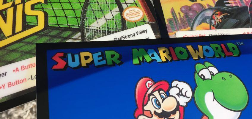 Nintendo Super System Marquees