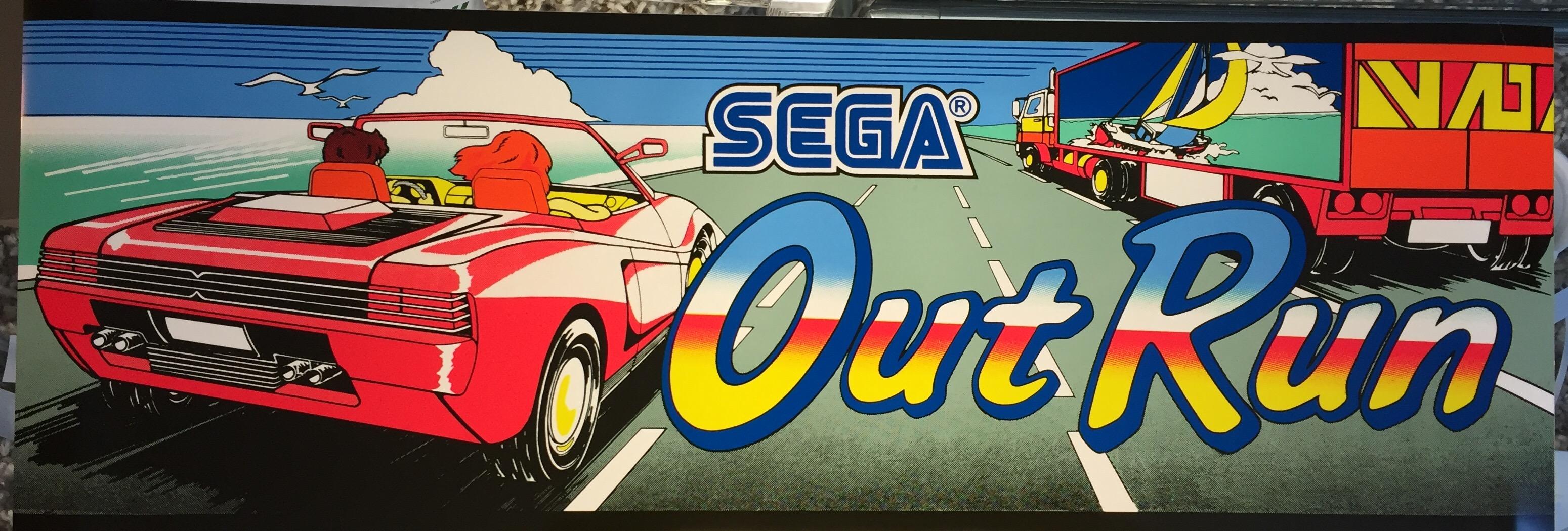 Out Run Dedicated Arcade Marquee 23.5″ x 8″