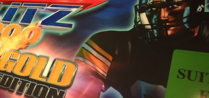 NFL Blitz 2000 Gold Edition Arcade Marquee