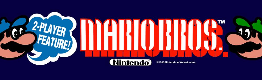 Mario Bros Arcade Marquee 26 X 8 Arcade Marquee Dot Com
