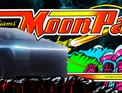 Tesla Moon Patrol Arcade Marquee