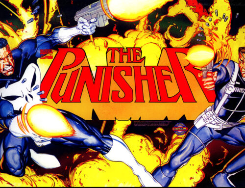 The Punisher Big Blue Arcade Marquee