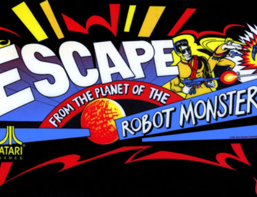 Escape from the Planet of the Robot Monsters Arcade Marquee