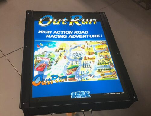 Out Run Arcade Poster Light Box